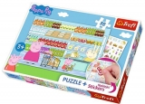 Puzzle Peppa Pig a samolepky