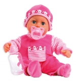 Panenka Bayer First Words Baby 38cm pink