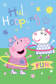 Fleece deka Peppa Pig a Zuzka