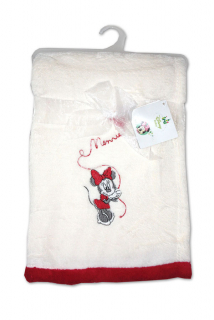 Micropolar fleece deka Minnie bílá 76/102 cm
