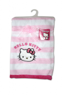 Micropolar fleece deka Hello Kitty růžovobílá 76/102 cm