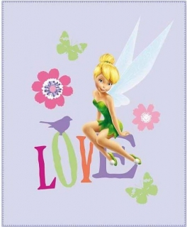 Fleece deka Fairies Love 110/140 cm