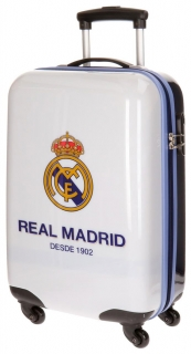 Cestovní kufr ABS Real Madrid One color one club white 55 cm