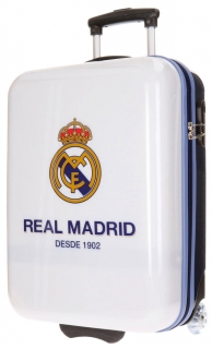 Cestovní kufr ABS Real Madrid club white 55 cm