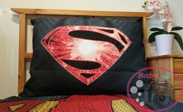 postelna bielizen Superman, detailne foto, vlastné foto www.baby-babatko.sk
