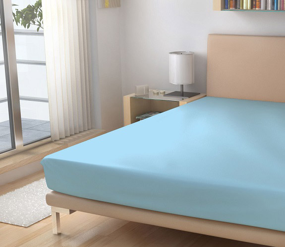 svetle modre prosteradlo, barva 21