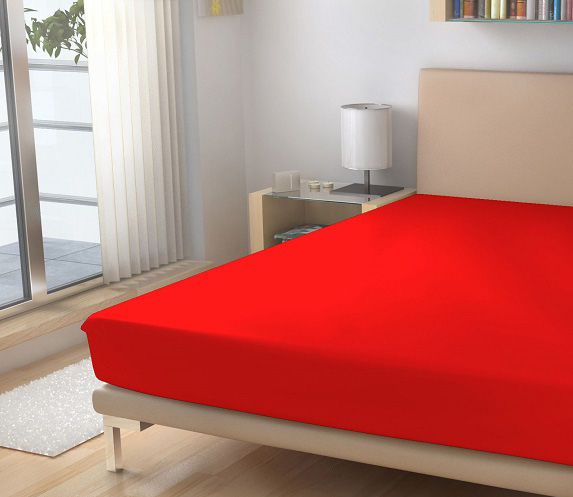 cervené prosteradlo, barva 26